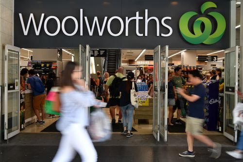 Plastic bags will no longer be available in Woolworths stores from today. Picture: AAP