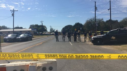 The FBI are expected to finish scoping the crime scene soon. (Lizzie Pearl)