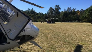 CareFlight at the scene on a private property in Upper Colo.