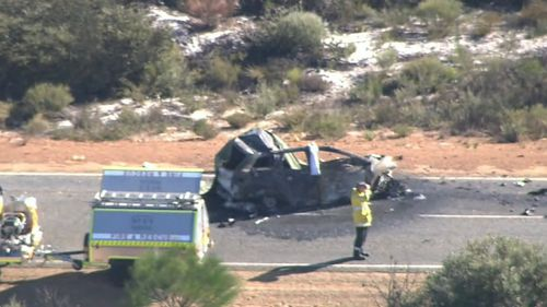 Two people in the car died at the scene. (9NEWS)