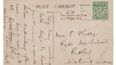 'Love, Jack' - the handwritten letter Jack Phillips wrote to his sister Elsie before the Titanic's ill-fated voyage.