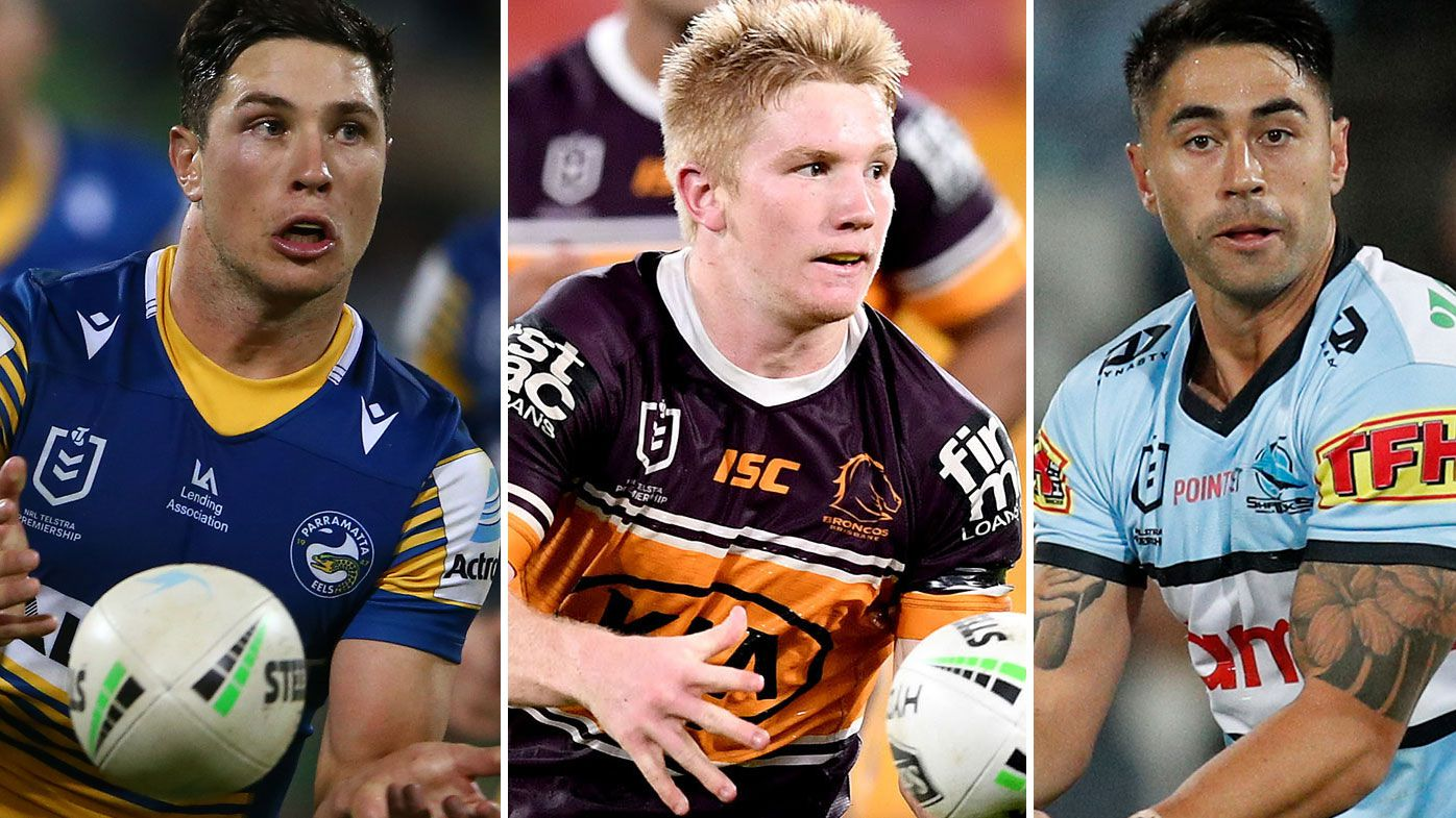 The Broncos will reportedly chase Mitchell Moses or Shaun Johnson with the money saved from Tom Dearden's departure. (Getty)