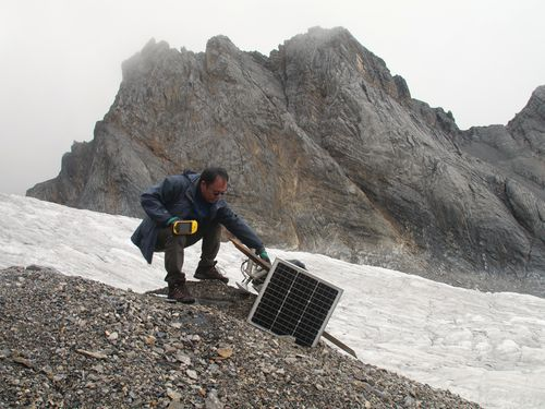 Research teams have tracked Baishui's retreat of about 27 metres per year over the past decade.