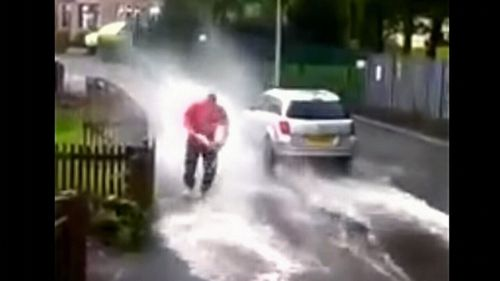 Splashing a pedestrian waiting for the bus is also an offence.
