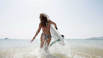 Swap swimming laps for surfing
