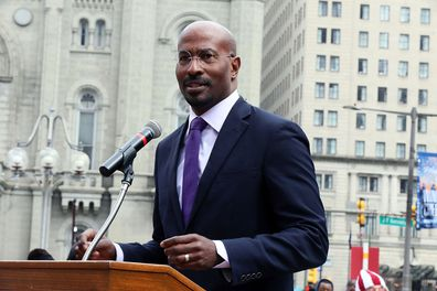 Van Jones at Philadelphia Municipal Services Building on April 2, 2019 in Philadelphia, Pennsylvania.