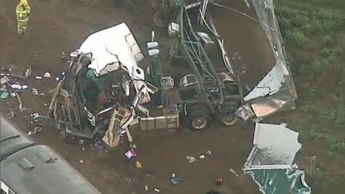 """A witness said the crash """"felt like an earthquake"""". (9NEWS)"""