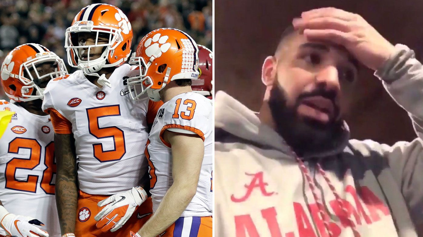 Alabama fans blame 'Drake curse' for national championship loss to Clemson
