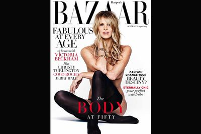 Elle revived her Brigitt Bardot-inspired 1994 cover 19 years later, at 49 years of age.