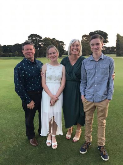 Andrea Row with her family