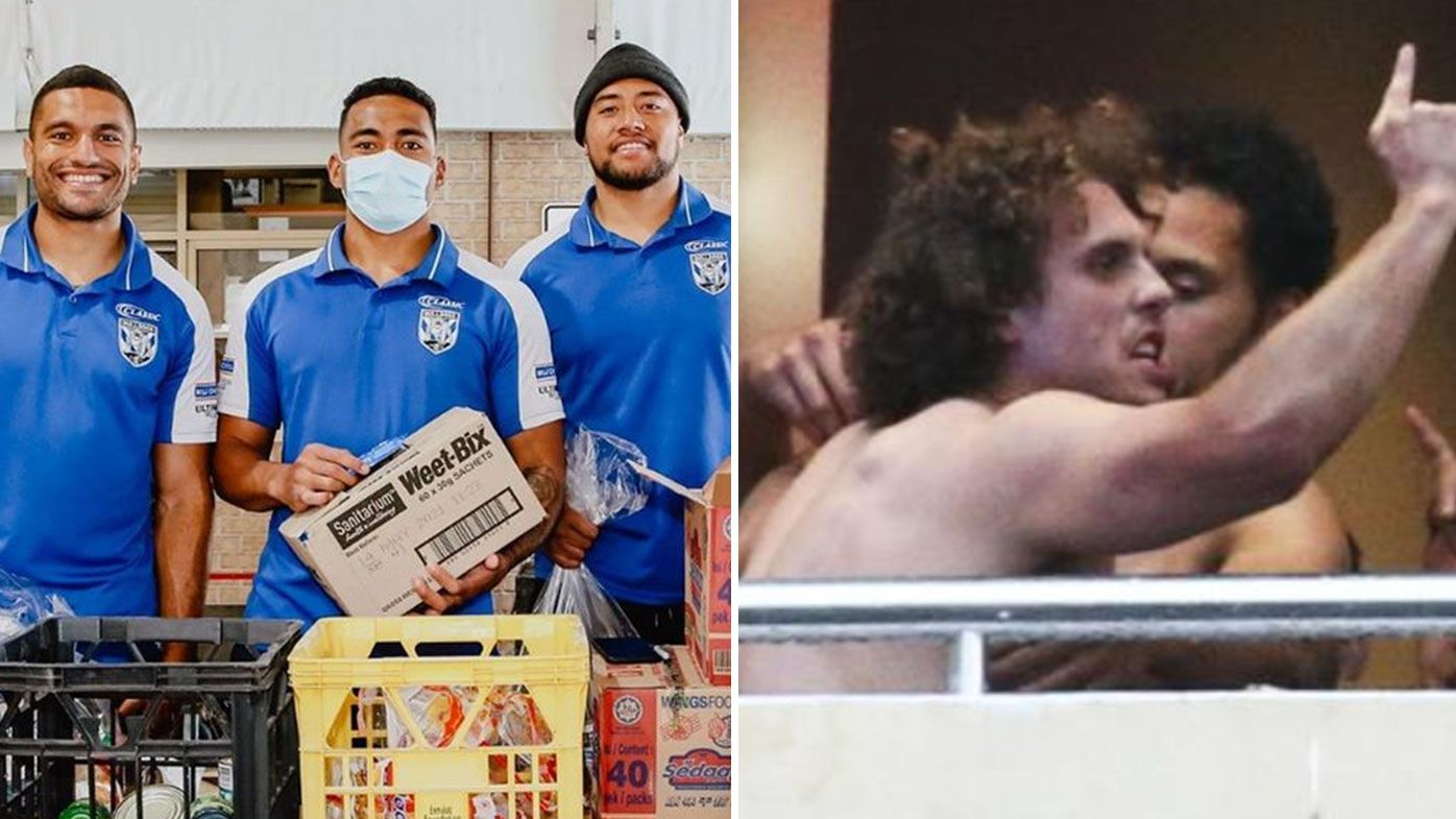 Bulldogs players and staff help out homeless in Mad Monday celebrations