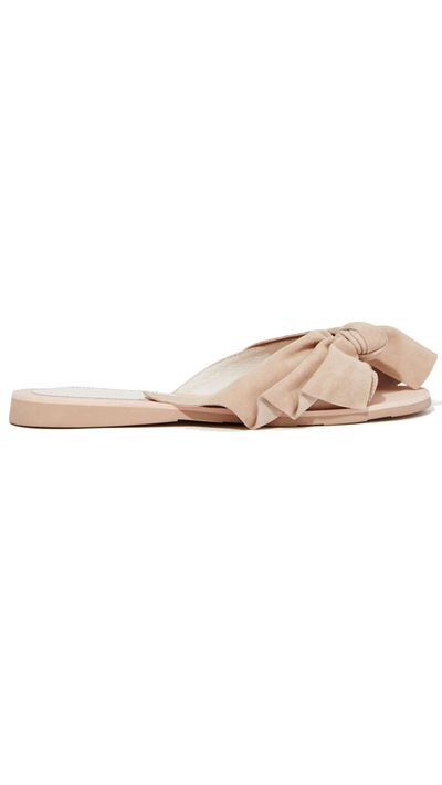"<a href=""http://www.nastygal.com.au/shoes-sandals-flats/jeffrey-campbell-mucho-bow-suede-slide"" target=""_blank"">Slides, $152.66, Jeffrey Campbell at nastygal.com.au</a>"