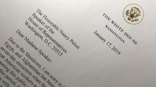 The letter to Nancy Pelosi.