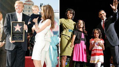 Donald and Melania Trump vs. Barack and Michelle Obama