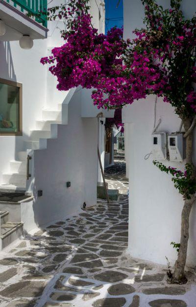 Swap Santorini for Paros