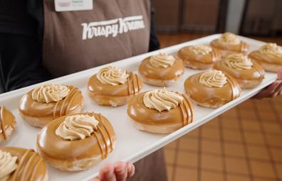 Krispy Kreme Lotus Biscoff doughnut
