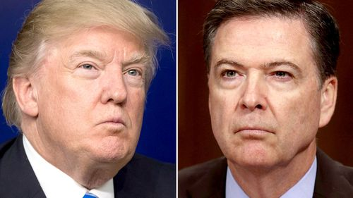 President Donald Trump (left) and former FBI director James Comey. (AAP)