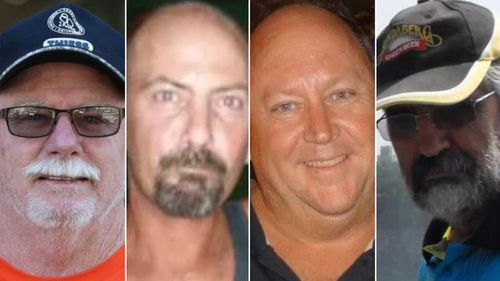 (From left) Wayne Ganter, Mark Rawlings, Wayne Brischke, Henry Roebig.