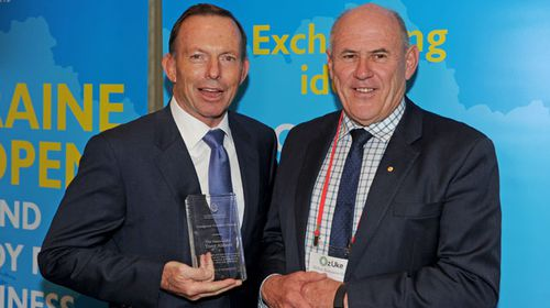 Abbott receives Ukraine Freedom Award