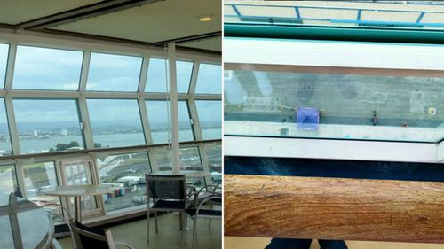 Photos released by the family's lawyers show the inside of the ship, and the railing the toddler fell over.