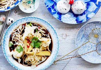 "<a href=""http://kitchen.nine.com.au/2017/03/10/14/45/prawn-and-chicken-wonton-soup"" target=""_top"">Prawn and chicken wonton soup</a><br /> <br /> <a href=""http://kitchen.nine.com.au/2016/06/06/23/14/double-down-on-these-dumplings"" target=""_top"">More dumplings</a>"