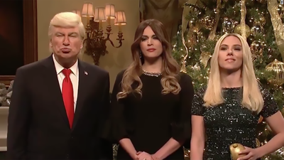 SNL: Alec Baldwin's Donald Trump declares war on Christmas is over