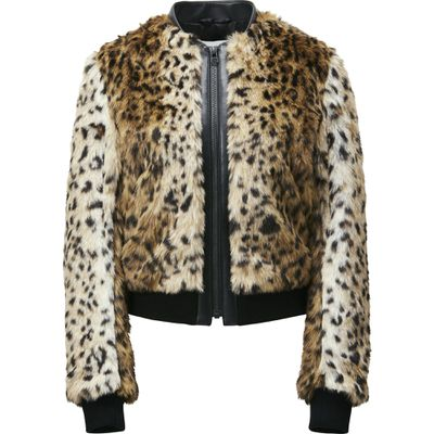 "Faux fur patter bomber, $149.90, <a href=""http://www.uniqlo.com/au/store/women-carine-faux-fur-pattern-blouson-1913300004.html"" target=""_blank"">Uniqlo</a>"