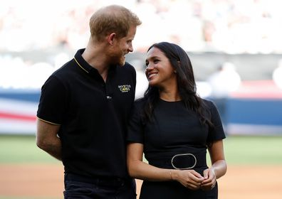 Meghan and Harry at a baseball event in London.