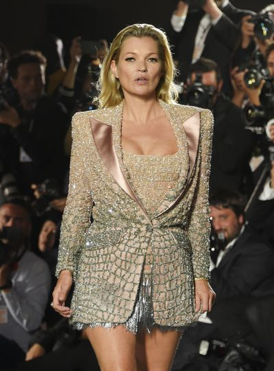 Kate Moss in Atelier Versace at Fashion Relief, Cannes
