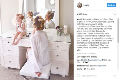 <p>Sunday prep: lifestyle blogger Kate Weilz and her daughter.</p>