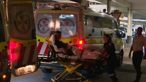 Two men were injured in the brawl. (9NEWS)