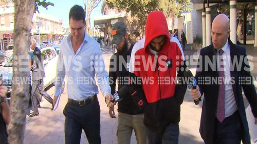 Alaa El Zien faced court for the first time since the road rage incident in Sydney's west last month. (9NEWS)