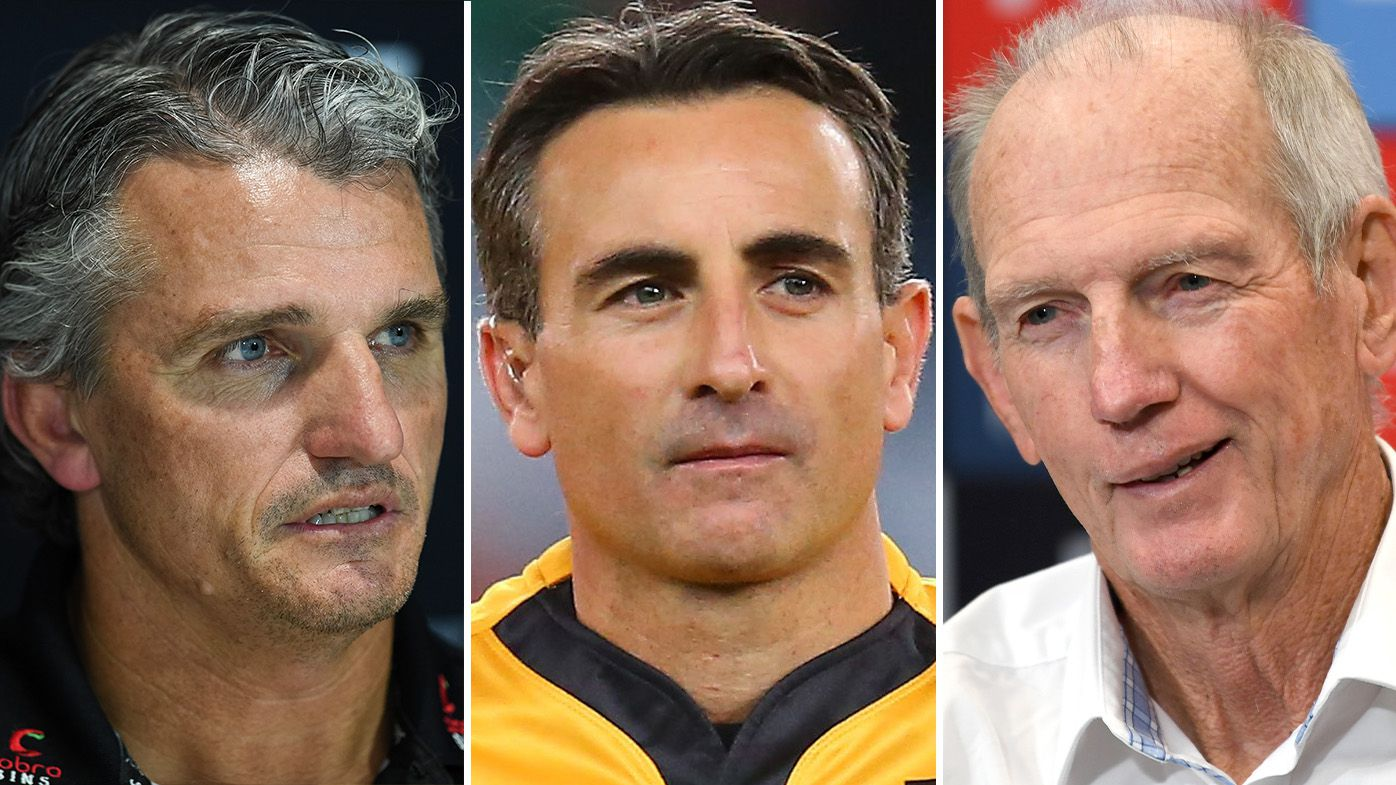 Grand final referee Gerard Sutton weighs in on tense feud between Ivan Cleary and Wayne Bennett