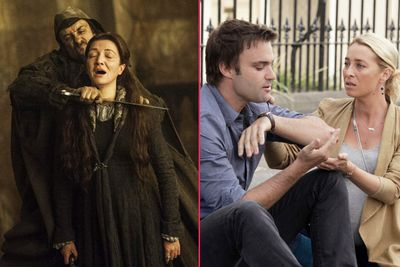 """<i>Game of Thrones</i>' Red Wedding quite literally put us on the knife's edge, while <i>Homeland</i> dropped an outlandish twist and jumped the shark. Even Aussie shows like <i>Offspring</i> and <i>Ja'mie: Private School Girl</i> had their """"WTF"""" moments!<br/><br/>So, from HBO to free-to-air, here are TheFIX's picks for the most jaw-dropping TV series moments of the year… SPOILER ALERT!<br/><br/>Author: Adam Bub <b><a target=""""_blank"""" href=""""http://twitter.com/TheAdamBub"""">Twitter: @TheAdamBub</a></b>"""