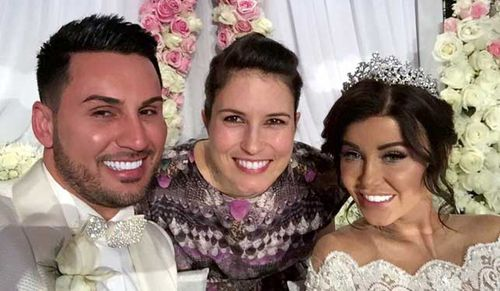 Auburn deputy mayor Salim Mehajer and his wife Aysha pose for a photo with Australian singer Missy Higgins. (Source: Facebook)
