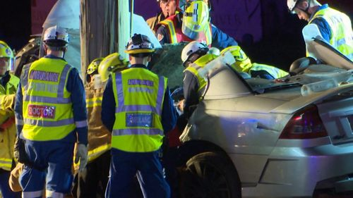 Witnesses say they saw the car travelling at up to 200km/h before the crash. (9NEWS)