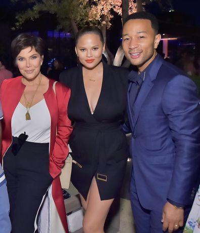 Kris Jenner, Chrissy Teigen and John Legend