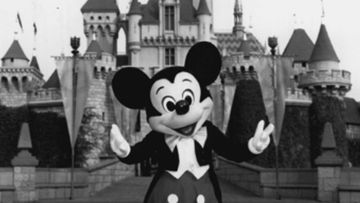 Mickey Mouse at Disneyland in 1992