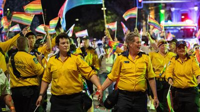 The NSW Rural Fire Service marched proudly down Oxford Street