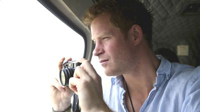"Prince Harry said most of his best photos were in his head, but he was thankful for the opportunity to get ""on the other side of the camera"" in Lesotho."