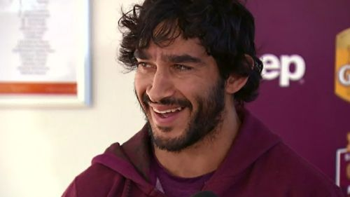 Thurston is famous for his laugh as well as his NRL skills. (9NEWS)