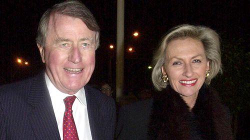 With wife Jill in 2001. (AAP)