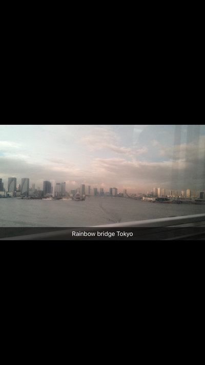 Rainbow Bridge Tokyo.