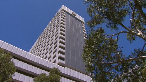 The Pan Pacific Hotel di Perth.