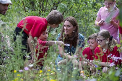 The Duchess engaged with the children during various activities.