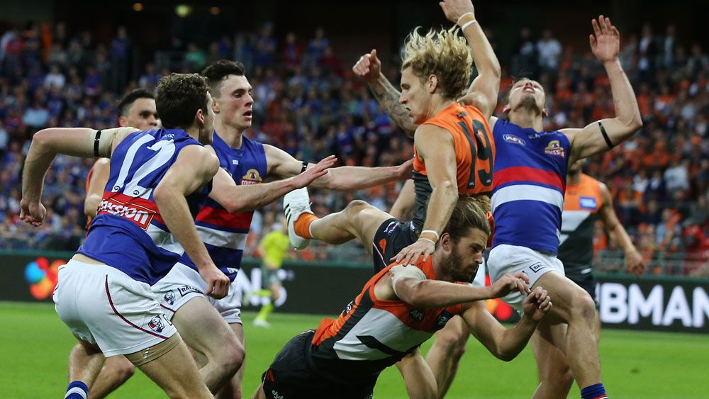 Dogs' AFL fans bring bite to GWS fortress