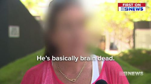 """The mother says her son is """"brain dead"""" from nang use. (9NEWS)"""