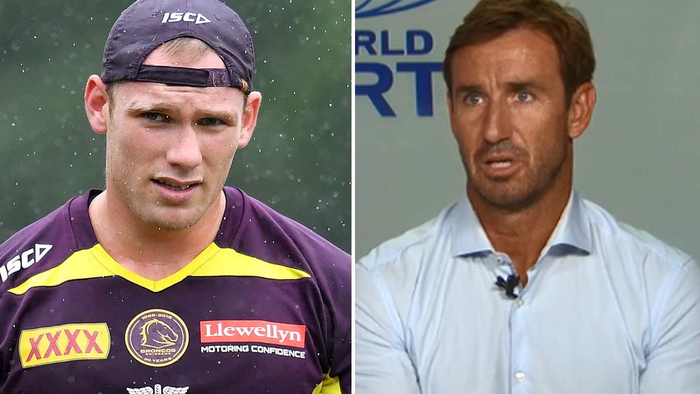 NRL: Andrew Johns supports Matt Lodge return with Broncos but warns he is on his last chance