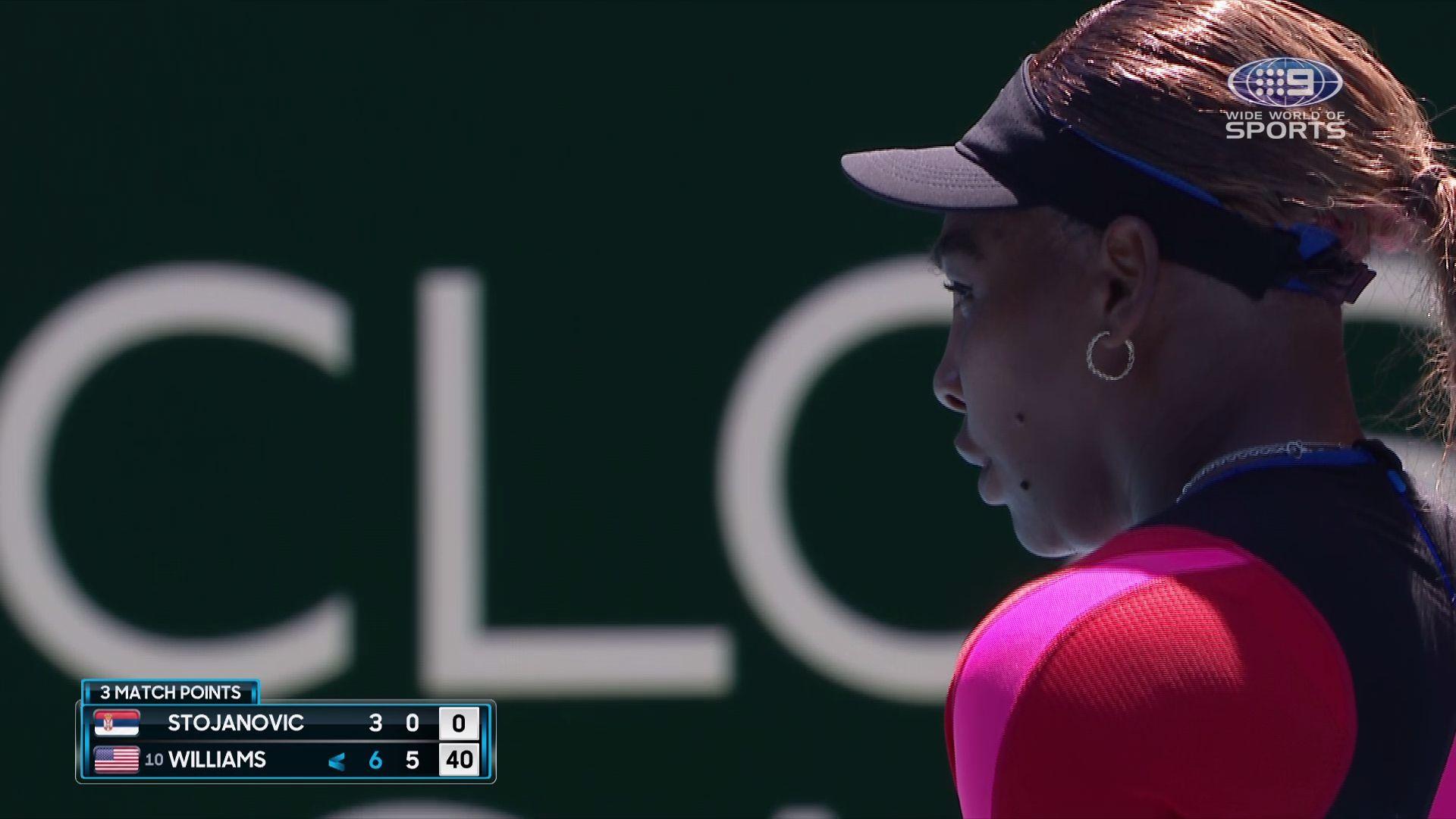 Serena Williams blasts 200km/h serves to fly past Serb Nina Stojanovic