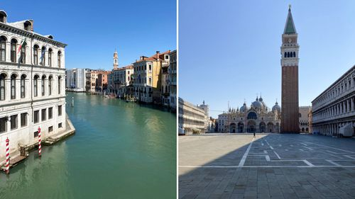 Grand Canal and Piazza San Marco